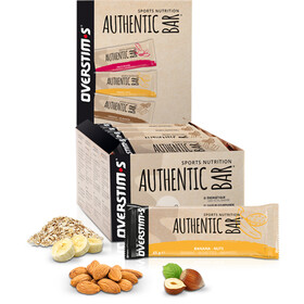 OVERSTIM.s Authentic Caja Barritas Energéticas 30x65g, Banana Nuts